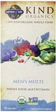 Garden of Life Kind Organics Men's Whole Food Multivitamin, 60 vegan tablets