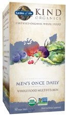 Garden of Life Kind Organics Men's Once Daily Whole Food Multivitamin, 30 vegan tablets