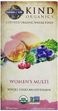 Garden of Life Kind Organics Women's Whole Food Multivitamin, 60 vegan tablets