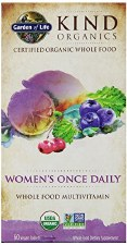 Garden of Life Kind Organics Women's Once Daily Whole Food Multivitamin, 60 vegan tablets