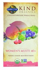 Garden of Life Kind Organics Womaen's Multi Whole Food Multivitamin, 120 vegan tablets