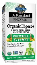 Garden of Life Dr. Formulated Organic Digest + Chewable Enzymes, 90 chewables