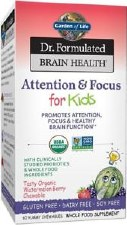 Garden of Life Attention & Focus for Kids, 60 chewies