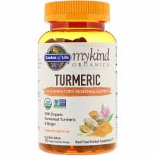 Garden of Life Mykind Organics turmeric Inflammatory Response Gummy, 120 vegan gummy drops