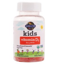 Garden of Life Kids Vitamin D3, 60 vegetarian gummies