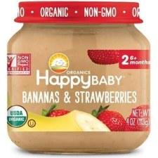 Happy Baby Bananas & Strawberries Baby Food, 4 oz.