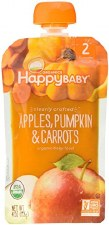 Happy Baby Apples, Pumpkin & Carrots Organic Baby Food, 4 oz.
