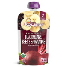 Happy Baby Black Beans, Beets & Bananas Organic Stage 2 Baby Food, 4 oz.