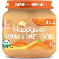 Happy Baby Bananas & Sweet Potatoes Baby Food, 4 oz.
