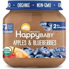 Happy Baby Apples & Blueberrie Baby Food, 4 oz.