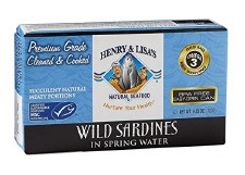 Henry & Lisa's Wild Water Sardines, 4.25 oz.