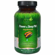 Irwin Naturals Power to Sleep PM 6mg Melatonin, 60 soft gels