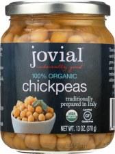 Jovial 100% Organic Chickpeas, 13 oz.