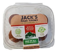 Jack's Paleo Kitchen Ginger Molasses Cookies, 7 oz.