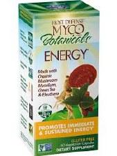 Fungi Perfecti Myco Botanicals Energy, 60 vegetarian capsules