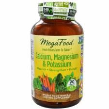 MegaFood Calcium, Magnesium & Potassium, 90 tablets