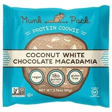 Munk Pack Coconut White Chocolate Macadamia Cookie, 2.96 oz.