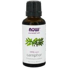 NOW 100% Pure Camphor Oil, 1 oz.