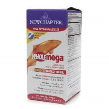 New Chapter Wholemega Whole Fish Oil, 1000mg, 180 soft gels