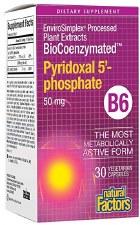 Natural Factors BioCoenzymated Pyridoxal 5' - phosphate, 30 vegetarian capsules