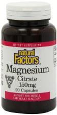 Natural Factors Magnesium Citrate, 150mg, 90 capsules