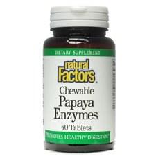 Natural Factors Chewable Papaya Enzymes, 60 tablets