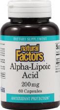 Natural Factors Alpha-Lipoic Acid, 200mg, 60 capsules