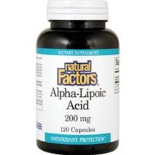 Natural Factors Alpha-Lipoic Acid, 200mg, 120 capsules