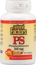 Natural Factors Phosphatidylserine, 100mg, 30 soft gels