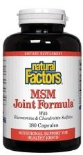 Natural Factors MSM Joint Formula, 180 capsules