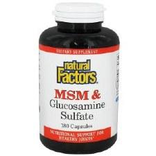 Natural Factors MSM & Glucosamine Sulfate, 180 capsules
