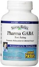 Natural Factors Stress-Relax Pharma GABA, 100mg, 60 tablets