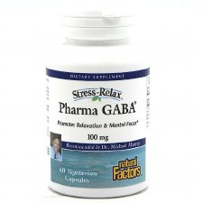 Natural Factors Stress-Relax Pharma GABA, 100mg, 60 capsules