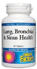 Natural Factors Lung Bronchial & Sinus Health, 45 tablets
