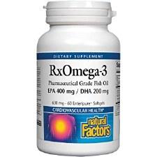 Natural Factors RxOmega-3, 60 soft gels
