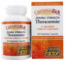 Natural Factors Double Strength Theracurmin, 60 vegetarian capsules
