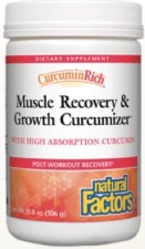 Natural Factors Curcuminrich Muscle Recovery & Growth Curcumizer, 10.8 oz.