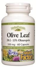 Natural Factors Olive Leaf 500 mg, 60 capsules