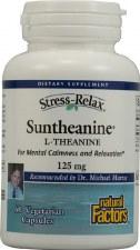 Natural Factors Suntheanine L-Theanine, 125mg, 60 vegetarian capsules