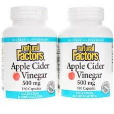 Natural Factors Apple Cider Vinegar 500 mg, 360 capsules