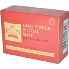 Nubian Heritage Goat's Milk & Chai Soap with Rose Extracts, 5 oz. bar