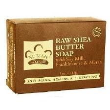 Nubian Heritage Raw Shea Butter Soap with Soy Milk, Frankincense & Myrrh, 5 oz. bar