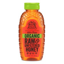 Nature Nate's 100% Pure Organic Raw & Unfiltered Honey, 16 oz.