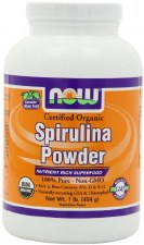 NOW Foods Organic Spirulina Powder, 1 lb.