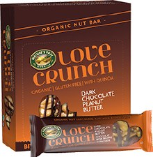 Nature's Path Dark Chocolate & Peanut Butter Love Crunch Premium Organic Granola Bars, six 1.06 oz. bars
