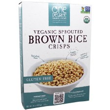 One Degree Veganic Sprouted Brown Rice Crisps, 8 oz.