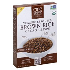 One Degree Veganic Sprouted Brown Rice Cacao Crisps, 10 oz.