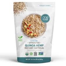 One Degree Sprouted Quinoa Hemp Instant Oatmeal, 18 oz.