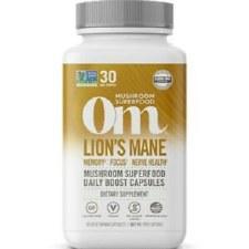 Om Mushroom Superfood Organic Lion's Mane, 90 vegetarian capsules