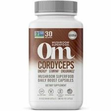 Om Mushroom Superfood Cordyceps Daily Boost, 90 vegetarian capsules